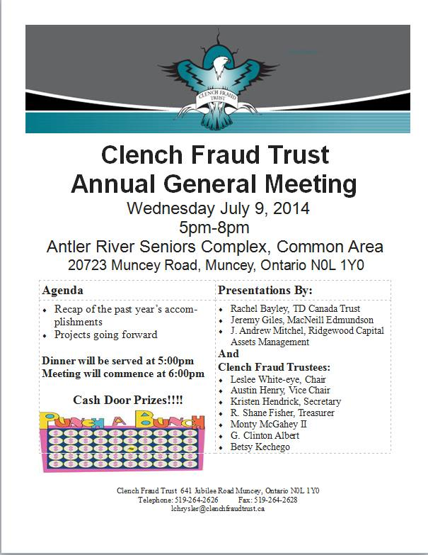 Come out to this year's AGM, meet our advisors and ask questions of trustees - cash prizes